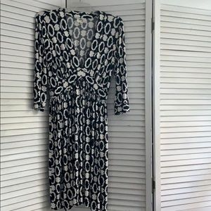 Milly soft dress black print.  medium